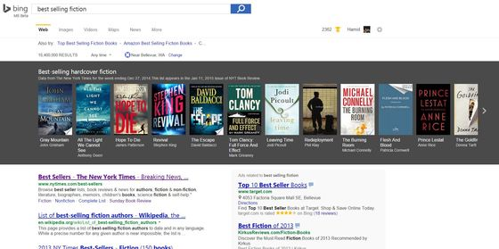 Bing Gets NY Times Best-Sellers Carousel Update On Thursday