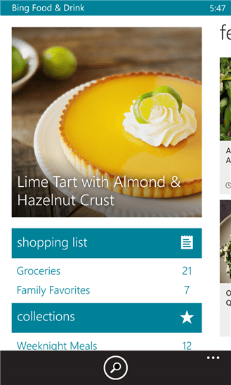 Food And Drink App Updates Come To Bing App