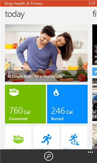 Microsoft Releases New Bing Health and Fitness App