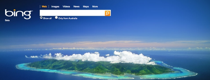 Microsoft Makes Bing Homepage Shine With Images, Video and Audio