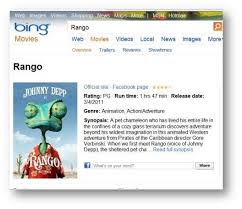 Microsoft's Bing Gets Major Movie and Moviefile Updates