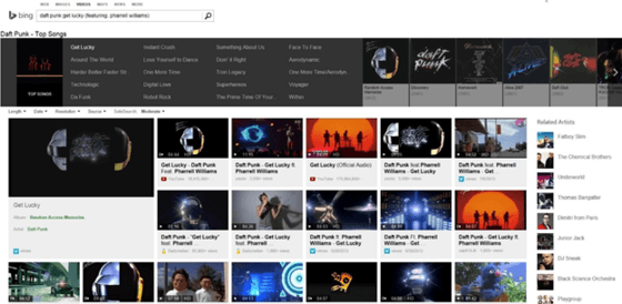 Bing Overhauls Music Video Searches With Updates Made