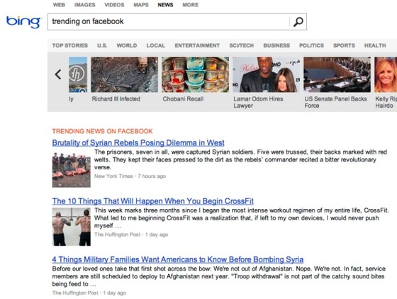 Bing News Now Gets Topics Via Facebook And Twitter