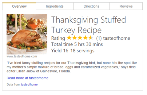 Microsoft Updates Bing Recipe Features In Time For Holidays