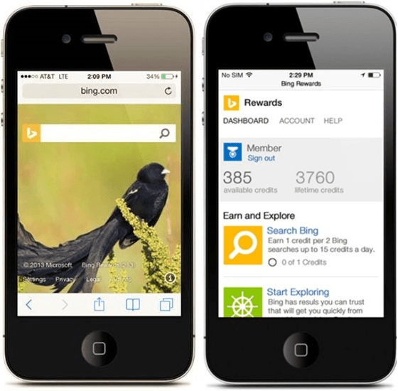 Microsoft Launches Bing Rewards For iOS and Android