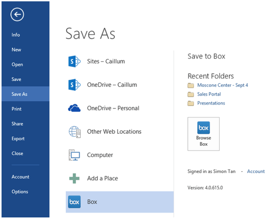 Microsoft's Office 365 Gets Easy Saving Files To Box With New Tools