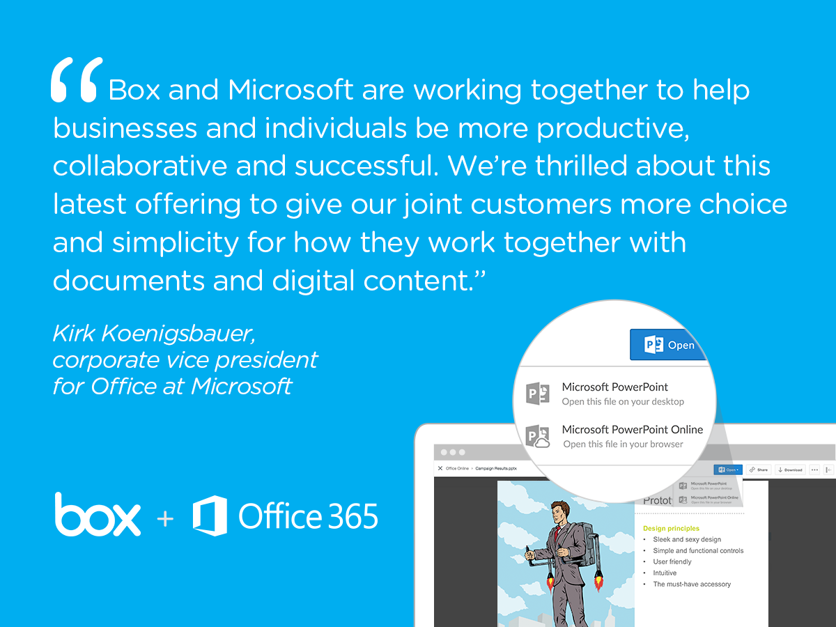 Microsoft and Box Team Up For Office Online Product