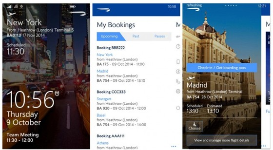 Microsoft and British Airways Reveal Revamped BA Windows Phone App