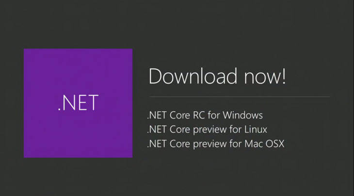 Microsoft Releases .NET Core For Mac and Linux During Build Day 1