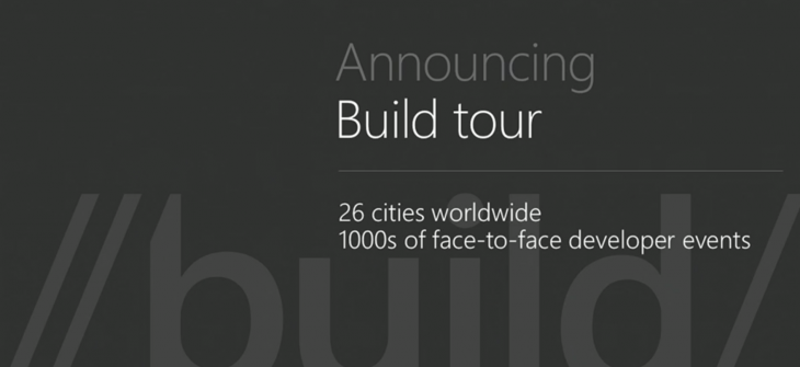 Microsoft Announces Build Tour Across US In 26 Cities Coming Soon