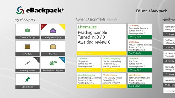 Microsoft Demonstrates eBackpack For Teachers In The Classroom