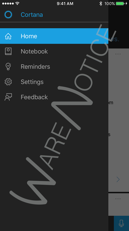 Microsoft's Cortana Seen In Various Test Images For iOS
