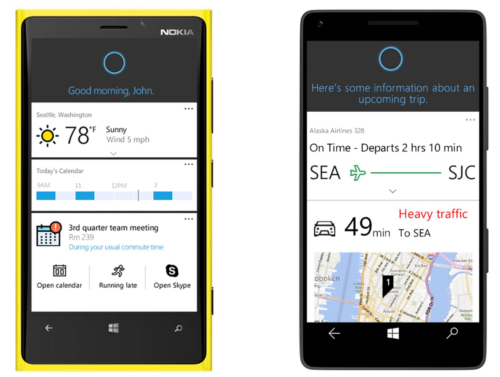 Microsoft's Cortana Shown On Mobile Devices
