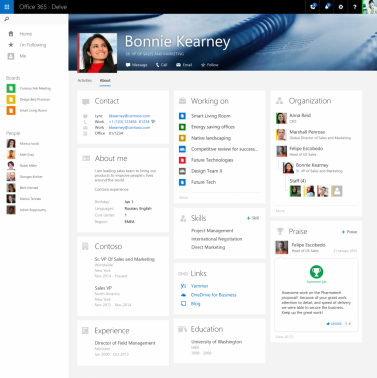 Microsoft Updates Office Delve User Profiles In Updates