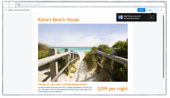 Microsoft's Office Online Gives Users Ability To Edit Dropbox Files On The Web