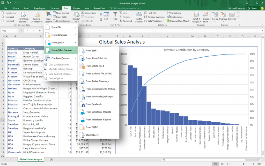 Microsoft Shows Off Excel 2016 BA Tools