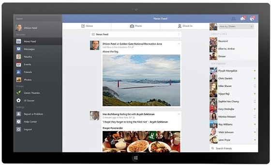Facebook App and Remote Desktop Launch For Windows 8.1