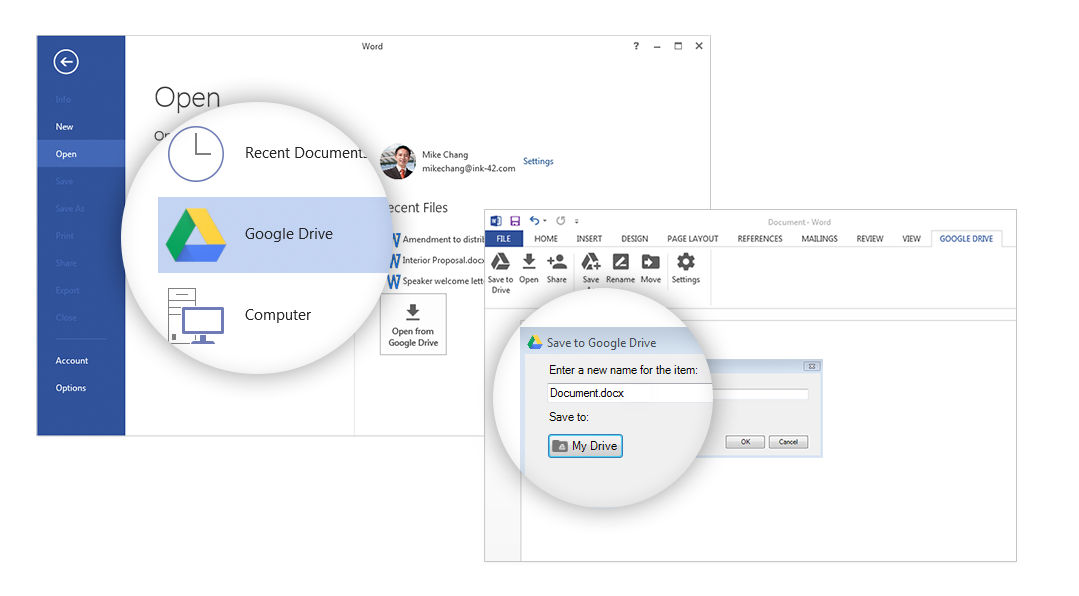 Microsoft's Office Suite Gets Ways To Open and Edit Google Drive Files Finally
