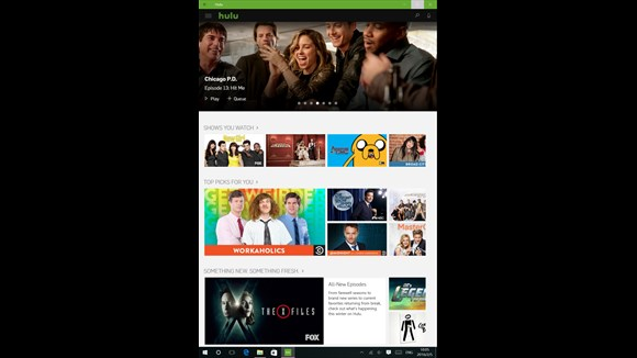 Best Windows 10 TV App Arrives With Hulu