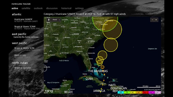 Hurricane Tracker Profiles Hurricanes For Windows 10 Users