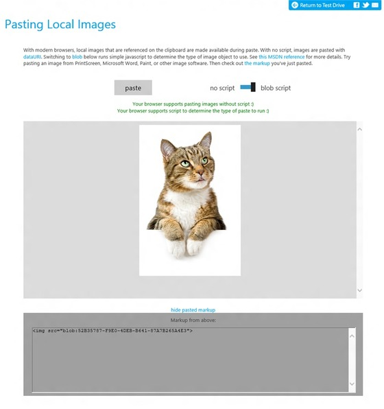Pasting Images Easier In Internet Explorer 11