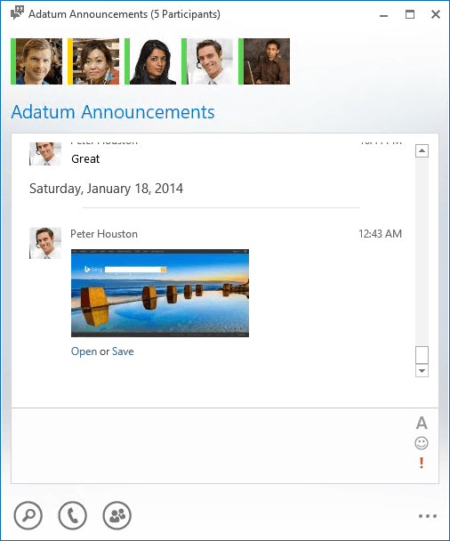 Microsoft Gives Lync Desktop Client Users Better File and Picture Transfer Support