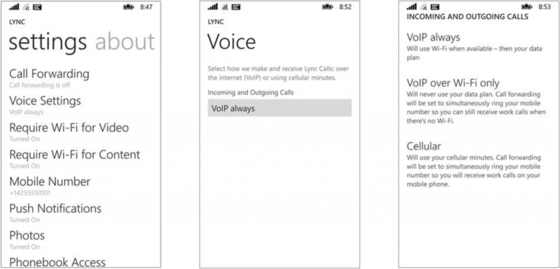 Microsoft Updates Lync With Phone Settings Options On Windows Phone