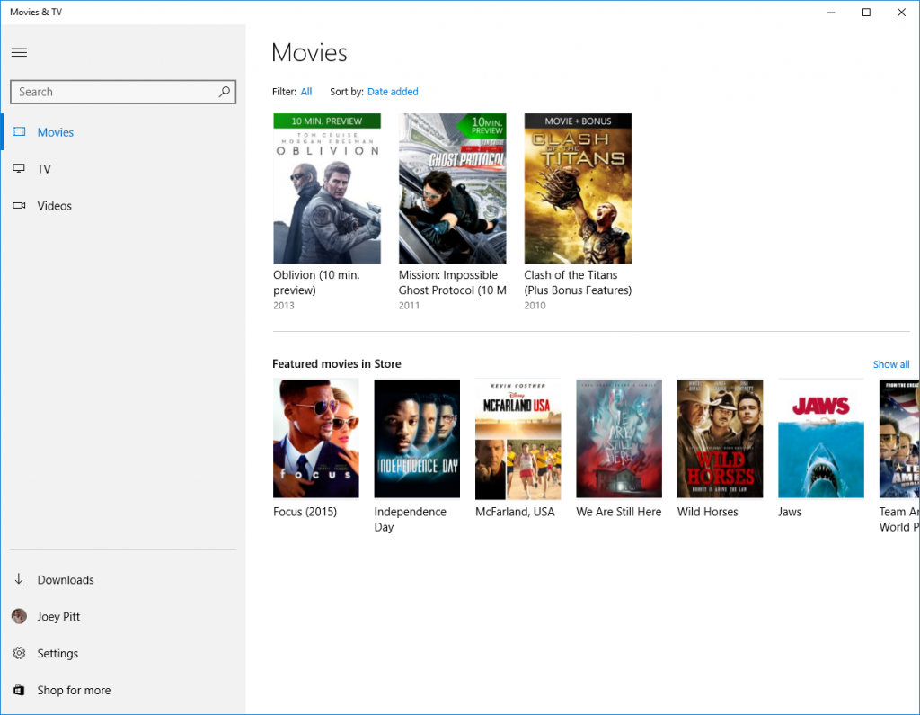 Microsoft Transforms Movies and TV Into New App For Windows 10
