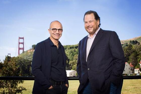 Microsoft and Salesforce CEO's Talk Big Business During 2014 Announcement