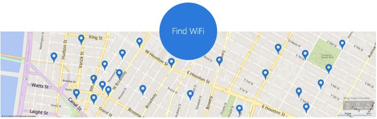 Microsoft Gives Maps To Find Microsoft Wi-Fi Spots In Ad-Hoc Map Image