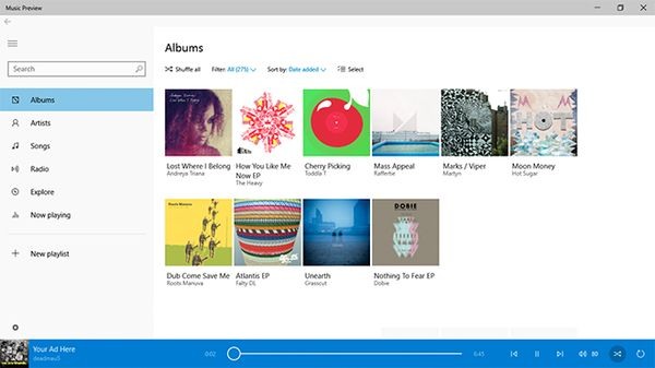 Microsoft Releases Music App For Windows 10