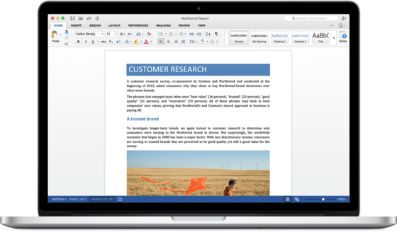 Microsoft Gives Preview Of New Word For The Mac With Office 2016 Preview
