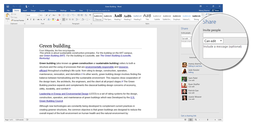 Microsoft Shows Off Sharing Tools In Office 2016