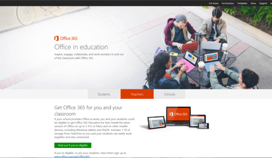 Microsoft Gives Teachers Office 365 With School Promo