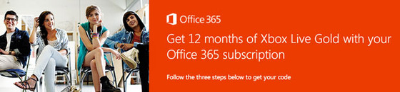 Get Xbox Live Gold Membership When You Order Office 365