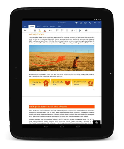 Microsoft Releases Office For Android Officially