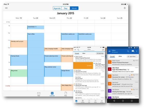 Microsoft Launches Outlook For iOS and Android Mobile Users