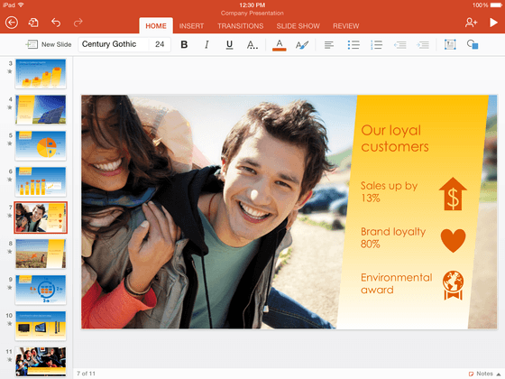 Microsoft Shows Off PowerPoint For iPad Product