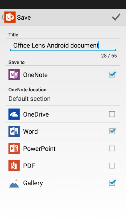 Microsoft's Office Lens For Android Allows For Easy File Exporting and Savings Of Images
