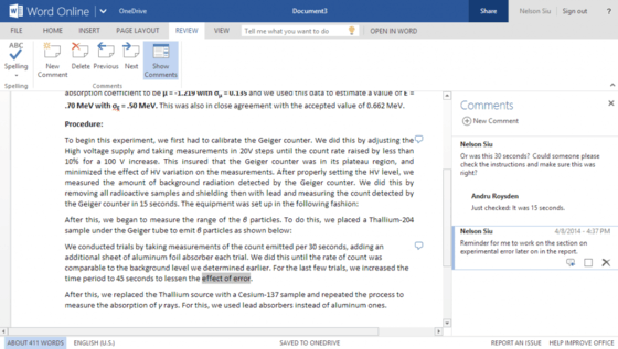 Microsoft Updates Word Online Product For Online Users