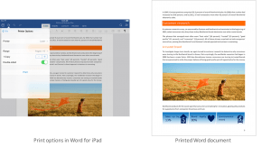 Office for iPad Now Includes Printing