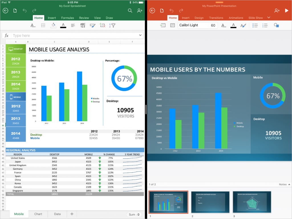 Microsoft Updates Office Apps For iPad Pro