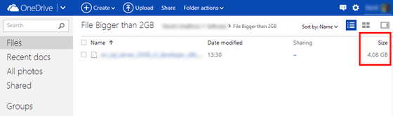 Microsoft's OneDrive Screenshot Via Twitter Shows 2GB File Cap Removal