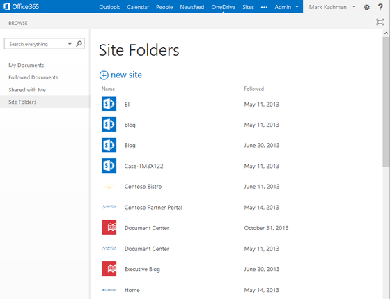 Microsoft Gives Business Users Site Folders To Share Data