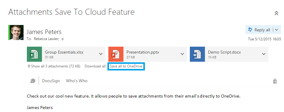 Outlook Web App and OneDrive For Business Get Updates