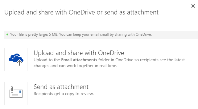 Microsoft Helps Users Save Large Attachments Via OneDrive For Business