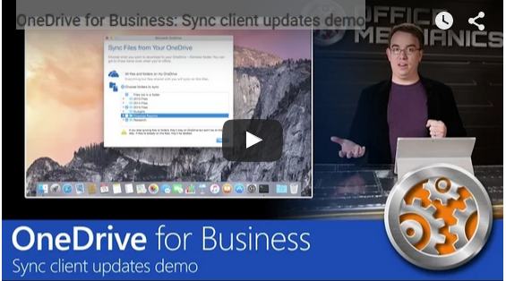Microsoft Shows Off Video Updates Of OneDrive For Business Product