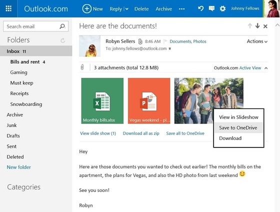 Microsoft Lets Users Save Attachments To OneDrive Or Locally