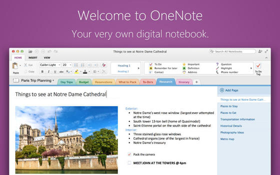 Microsoft OneNote Arrives On The Mac For Free