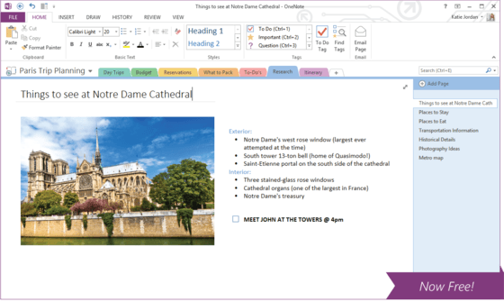 Microsoft OneNote Available For Free To Windows Users